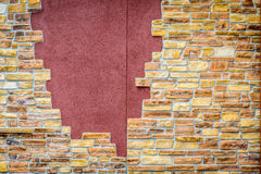 Fondo de la pared de ladrillo agrietada del vintage Fotografía de archivo libre de regalías