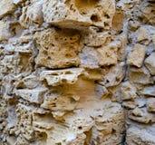 Fondo de la pared de ladrillo de Chipre Paphos Imagen de archivo