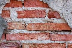 Fondo de la pared de ladrillo de la grieta de la textura Imagen de archivo