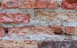 Fondo de la pared de ladrillo de la grieta de la textura Fotografía de archivo libre de regalías