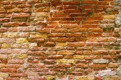 Fondo de la pared de ladrillo vieja Fotografía de archivo libre de regalías