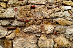 Fondo de la pared de piedra imagenes de archivo