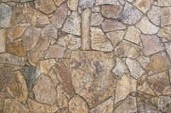 Fondo de la pared de piedra del mosaico Fotografía de archivo