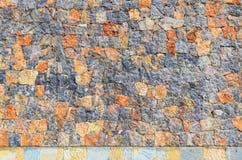 Fondo de la pared de piedra en color mezclado Imagen de archivo libre de regalías