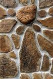 Fondo de la pared de piedra horizontal fotografía de archivo