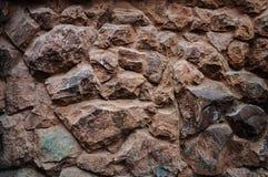 Fondo de la pared de piedras de Brown Fotografía de archivo