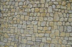 Fondo de la pared de piedras de la casa del adoquín Imágenes de archivo libres de regalías