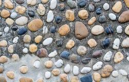 Fondo de la pared del guijarro Imagen de archivo