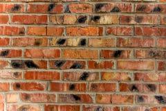 Fondo de la pared de ladrillo vieja del rojo del vintage Imagen de archivo