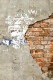 Fondo de la pared de ladrillo vieja del vintage con hormigón, textura resistida del fondo concreto atormentado de la pared de lad Imagen de archivo