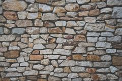 Fondo de la pared de piedra con efecto mate de la película Fotografía de archivo libre de regalías