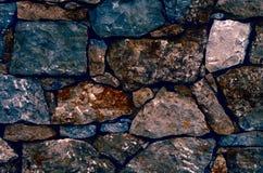 Fondo de la pared de piedra de piedras coloridas Fotografía de archivo libre de regalías
