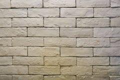 Fondo de la pared vieja del ladrillo blanco vacío imagen de archivo libre de regalías