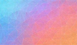 Fondo de la pendiente con textura del grunge Diseño plano del triángulo del vector Foto de archivo libre de regalías