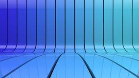 Fondo de la pendiente de las rayas azules Stock de ilustración