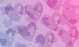 Fondo de la pendiente de los corazones ilustración del vector
