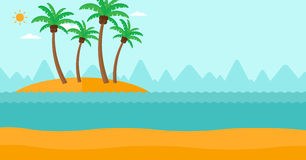 Fondo de la pequeña isla tropical Imagen de archivo