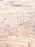 Fondo de la perspectiva: Piso de piedra de la perspectiva del ladrillo de la arena, texto Fotografía de archivo libre de regalías