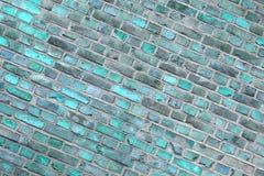 Fondo de la piedra del vintage del verde azul - pared fotos de archivo