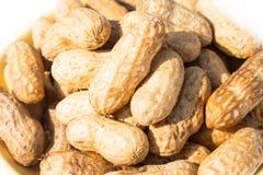 Fondo de la pila de los cacahuetes Foto de archivo libre de regalías