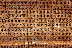 Fondo de la pila del bloque del ladrillo rojo Foto de archivo libre de regalías