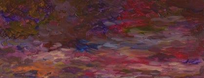 Fondo de la pintura al óleo Cielo nocturno de la ciudad de la primavera con las nubes stock de ilustración