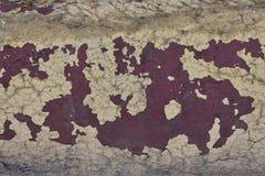 Fondo de la pintura de la peladura en el metal Fotos de archivo libres de regalías