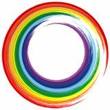 Fondo de la pintura del chapoteo del extracto del marco del color del arco iris del arte stock de ilustración