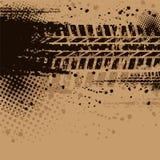 Fondo de la pista del neumático de Brown stock de ilustración