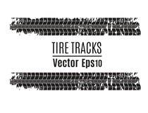 Fondo de la pista del neumático del vector Pista del neumático del Grunge ilustración del vector