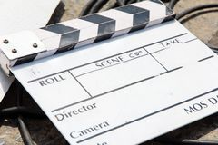 Fondo de la pizarra de la película Fotografía de archivo