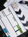 Fondo de la pizarra de la película Foto de archivo libre de regalías