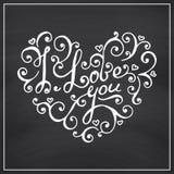 Fondo de la pizarra del día de tarjetas del día de San Valentín Imágenes de archivo libres de regalías