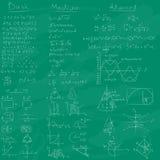 Fondo de la pizarra del och de la matemáticas Fotografía de archivo