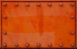 Fondo de la placa de acero Fotografía de archivo