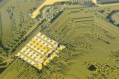 Fondo de la placa de circuito de la placa madre del ordenador Imagen de archivo libre de regalías