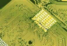 Fondo de la placa de circuito de la placa madre del ordenador Imagen de archivo