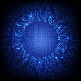 Fondo de la placa de circuito del vector ilustración del vector