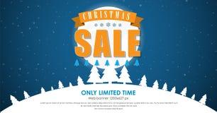 Fondo de la plantilla de la bandera para las ventas de la Navidad ilustración del vector