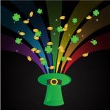 Fondo de la plantilla del día del St. Patricks Foto de archivo libre de regalías