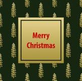 Fondo de la plantilla de la tarjeta de felicitación de la Feliz Navidad Fotos de archivo libres de regalías