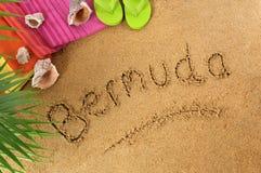Fondo de la playa de Bermudas Fotografía de archivo