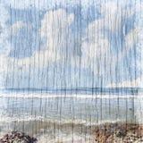 Fondo de la playa del verano Imagen de archivo