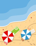 Fondo de la playa del verano Fotos de archivo libres de regalías