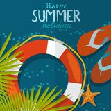 Fondo de la playa del verano ilustración del vector
