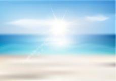 Fondo de la playa del verano Imágenes de archivo libres de regalías