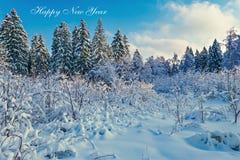 Fondo de la postal de la Feliz Año Nuevo Fotos de archivo