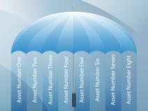 Fondo de la presentación del paraguas Imágenes de archivo libres de regalías