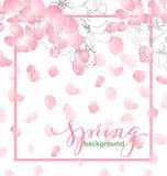 Fondo de la primavera con las flores florecientes de Apple Modelo del vector libre illustration