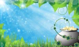 Fondo de la primavera del día del St. Patricks Foto de archivo